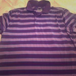 Purple XL men's under armor golf polo like new!